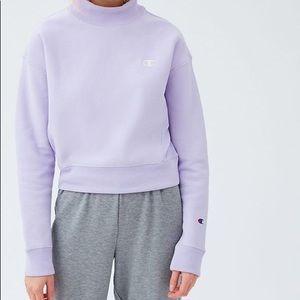 FOR TRADE champion x uo lilac mock neck sweatshirt